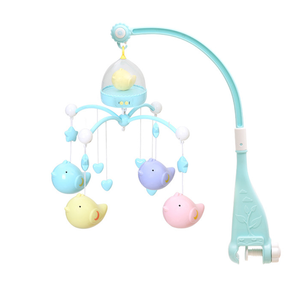 Hanging Toy Musical Newborn Educational Rotating Early Learning Gift Bracket Crib Bed Bell 120 Songs Baby Rattle Plastic