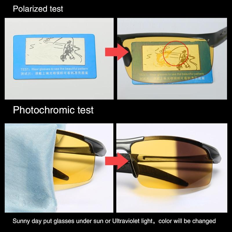 Image 3 - Aluminum Magnesium Photochromic Sunglasses mens Polarized Day Night Vision Men Oculos Driver Yellow male Driving Glasses gafasMens Sunglasses   -