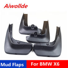 Car Mudflaps For BMW X6 2009-2019 Splash Guards Mud Flap Mudguards Fender(China)