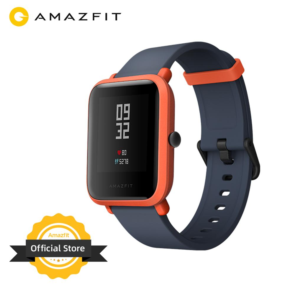 Multi Language Huami Amazfit Bip Smart Watch GPS Glonass Smartwatch Smart watch Watchs 45 Days Standby for Xiaomi Phone MI8 IOS|Smart Watches| |  - title=