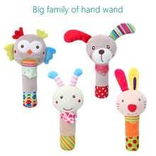 Cartoon Animal Hand Bell Rattle Soft Rattle Toy Baby Rattle Mobiles Baby Toys Cute Plush Bebe Toys 0-12 Months 20% off(China)