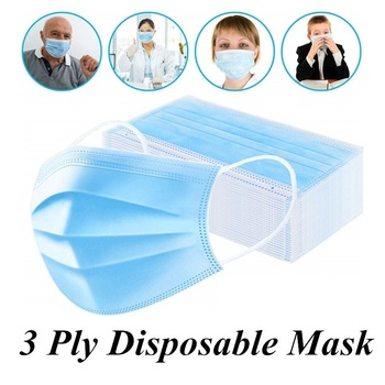 10/20/30/50pcs Non Woven Disposable Earloop Face Mask 3 Layer Anti-Dust Anti-Flu Mouth Mask Bacteria Proof Cover Anti-pollution