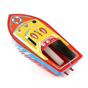 Vintage vapeur alimenté bougie fer bateau horloge jouet enfants jouets éducatifs pour enfants cadeau