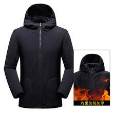 Зимняя Толстая флисовая Мужская спортивная куртка Женская толстовка