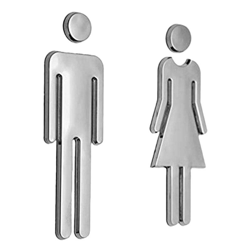 A Pair Men Women Toilet Door Sign Hotel Shopping Mall Wc Door Sign Door Accessories