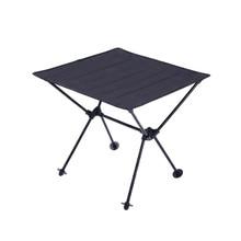 Camping Portable Aluminum Alloy Folding mesa abatible 600D Oxford Cloth Ultra Light Durable Garden Tables Outdoor Picnic Table