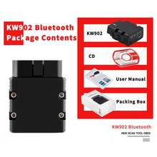 Диагностический сканер kw902 bluetooth v15 obd2 elm327 pic18f25k80