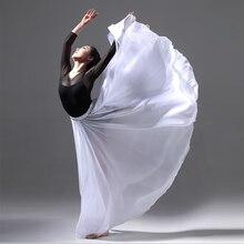 85cm Lange Chiffon-Ballett Rock Burgund Wein Rot Weiß Schwarz Erwachsene Ballerina Schwan See Dance Elastische Taille Expansion Röcke