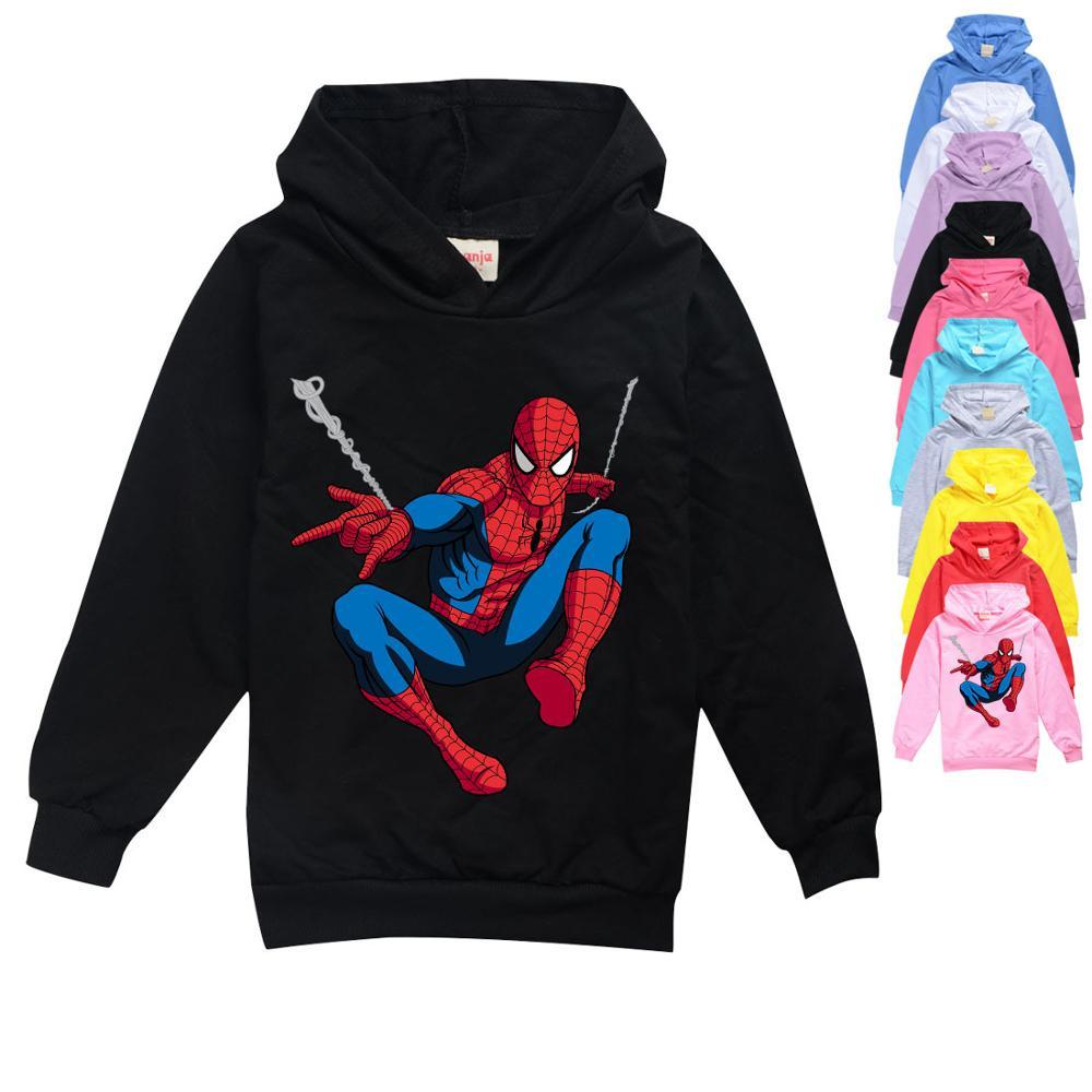 Худи для маленьких мальчиков, мультяшный Человек паук, Детский свитшот для малышей, одежда для девочек на осень и зиму, рождественские наряды|Толстовки и кофты| | АлиЭкспресс