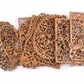Полое сердце/квадратные деревянные поделки Скрапбукинг деревянные Ломтики украшения для декора DIY Искусство украшение дома 2 шт. m2554