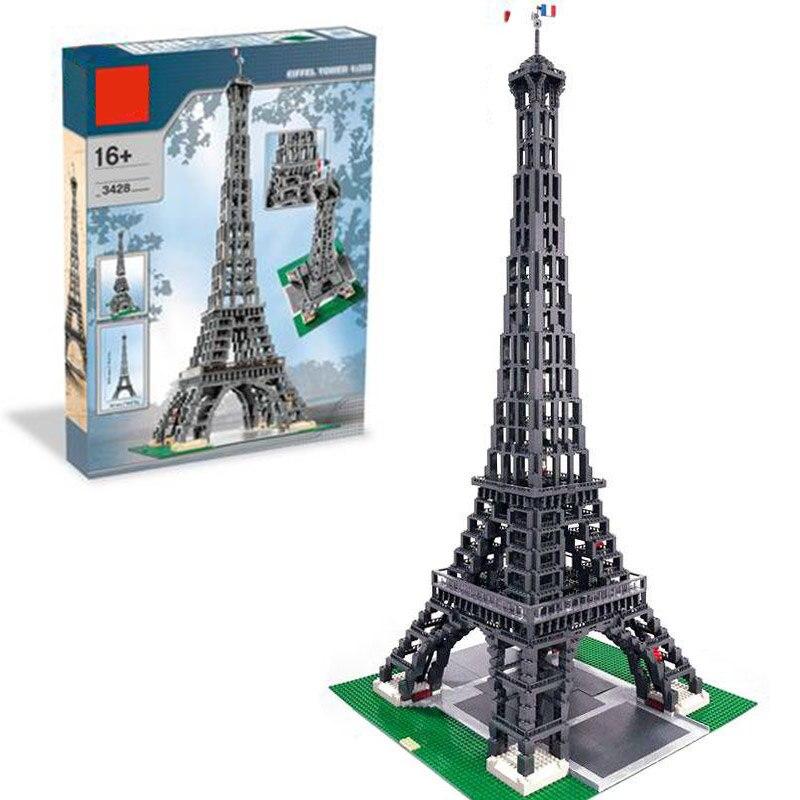30009 stadt Berühmte Architektur Paris Bausteine Eiffelturm Modell Bricks Geburtstag Kompatibel 10181 3478 stücke Spielzeug