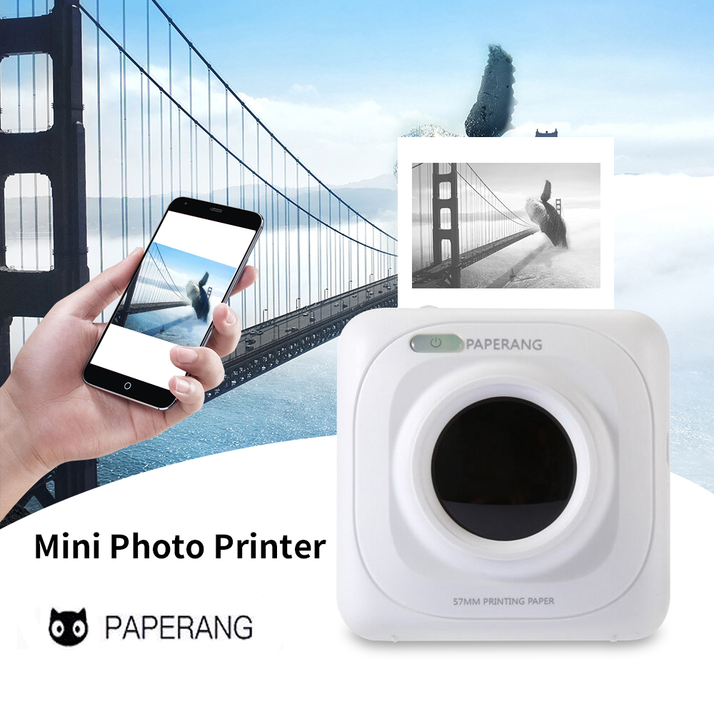 Portable Bluetooth Printer Mini Pocket Photo Printer Mobile Phone Pictures Thermal Printer For IOS Android Windows Handheld 58mm