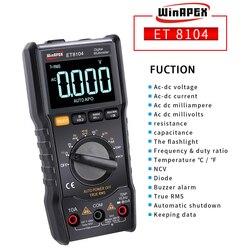 WinAPEX Digital Multimeter 9999 Counts Color Display True RMS Tester AC/DC ACA/DCA Current Capacitance Resistance Meter Temp