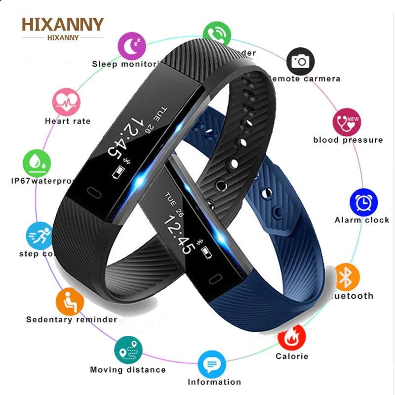 Smart Bluetooth подключен Шагомер фитнес трекер подходит для женщин мужчин детские часы браслет с датчиком сна Браслет бит смарт-браслет для фитне...