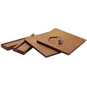 Image 5 - 木製スタッドのイヤリングディスプレイ小道具ウィンドウジュエリーディスプレイイヤリング収納ラックディスプレイスタンド配置垂直
