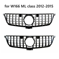 GT R Grille Front Grille for W166 ML Class 2012 2013 2014 2015 ML300 ML320 ML350 Ml400 ML450