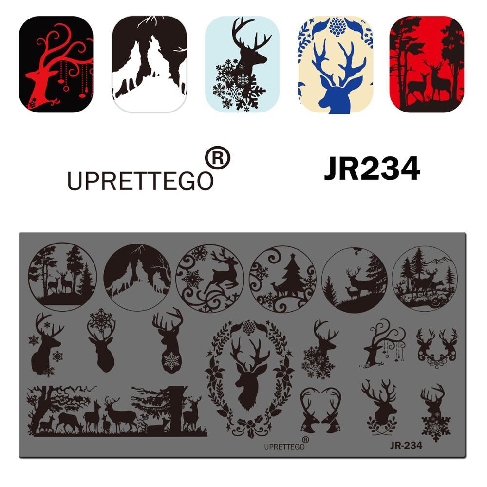 2019 aço inoxidável placa de carimbo modelo montanha natal cervos vasos flor japão comida chinês poker prego ferramenta JR231-240