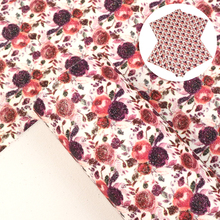 Earring Faux-Leather Fabric-Sheet Vinyl Glitter Craft Bow Flower-Patterns 1yc9040 Fine