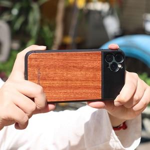 Image 5 - Ulanzi 1.33X anamorphic電話レンズ 10Xマクロレンズ電話ケースiphone 11 プロマックス 17 ミリメートルスレッド木製電話ケース