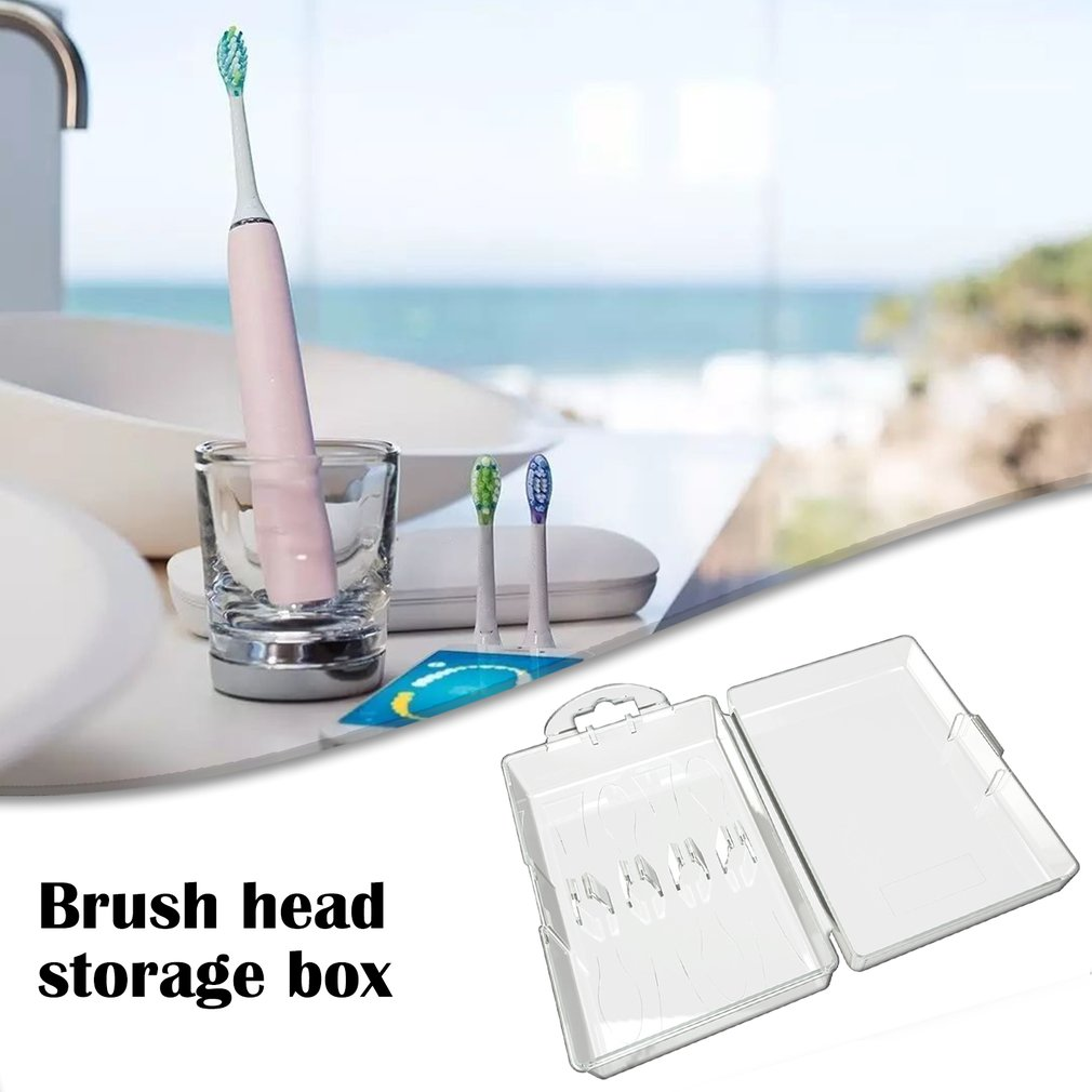 Universal For Phillips For Oral Electric Toothbrush Head Box Round Head Long Head Brush Head Storage Box image