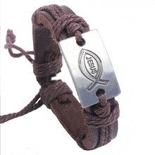 Bracelet tressé en Faux cuir pour hommes et femmes, unisexe, de qualité supérieure, Vintage, fait à la main, livraison rapide, nouvelle collection