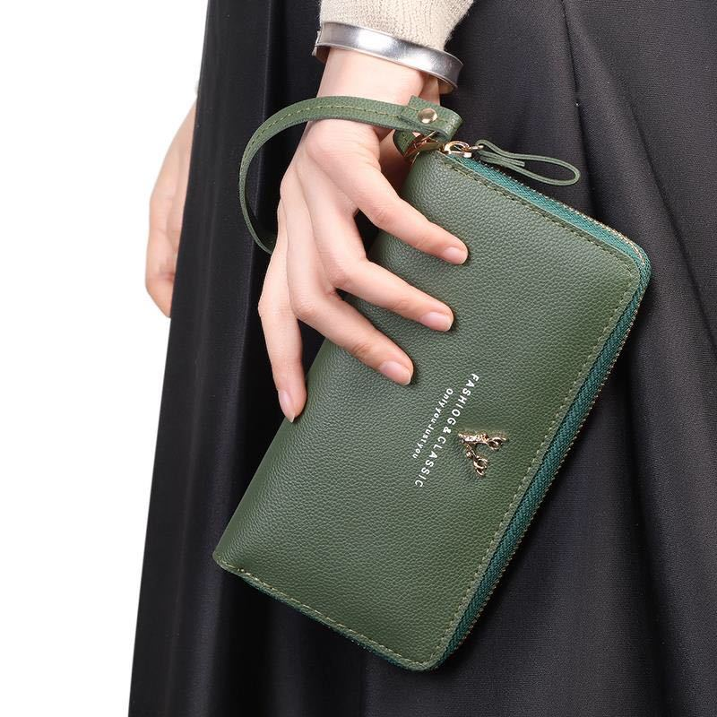 New 2019 Women's Fashion Style Wallets Large Capacity Purse Coin Pocket Female Card Holder Leather Clutch Folding Women Wallet