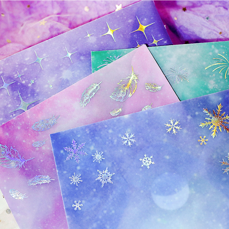 45 Pcs/lot Star Feather Dreamy Hot Silver Sulfuric Acid Paper Paper Envelopes Cute Envelope For Card Scrapbooking Gift