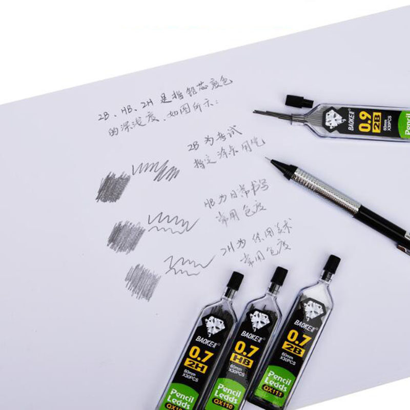 (1 Bottle = 30) Automatic Pencil Lead Test 0.3 / 0.5 / 0.7 / 0.9 Mm HB/2B/2H Refill Ink In Automatic Pencil School Office