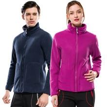 Уличная флисовая женская мужская куртка из флиса плотная плюс бархатная теплая двухсторонняя Коралловая флисовая