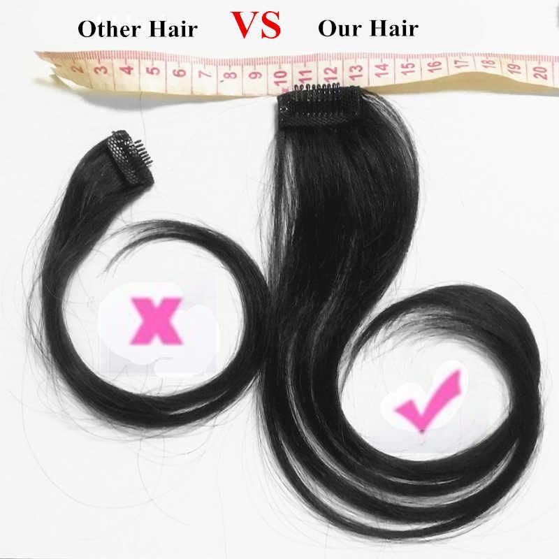 Halo Kecantikan 25-30 Cm Panjang Rambut Klip Di Bagian Depan Rambut Poni Sisi Alami Poni Potongan Rambut manusia Rambut Poni Ekstensi