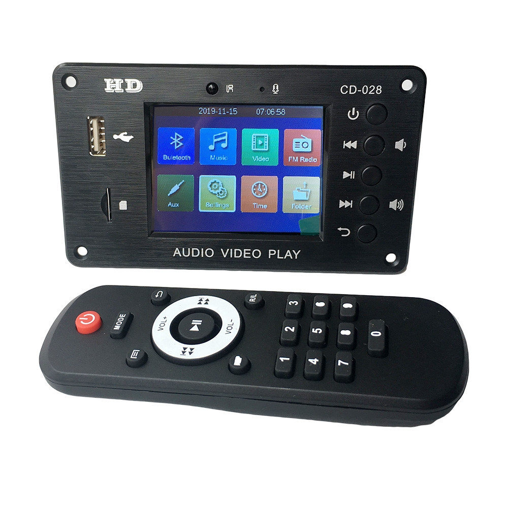 Bluetooth 5.0 récepteur Audio stéréo HD lecteur vidéo carte de décodeur MP3 FLAC WAV APE décodage Radio FM pour carte amplificateur de voiture