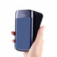 2019 10000mah בנק כוח חיצוני סוללה PoverBank LED Powerbank נייד 2 USB נייד טלפון מטען עבור שיאו mi mi iphone X-במטענים לטלפון נייד מתוך טלפונים סלולריים ותקשורת באתר