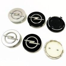Centre de roue avec emblème pour Opel, cache-moyeu, 68/64/60/59/56mm, accessoires de style, 4 pièces/ensemble