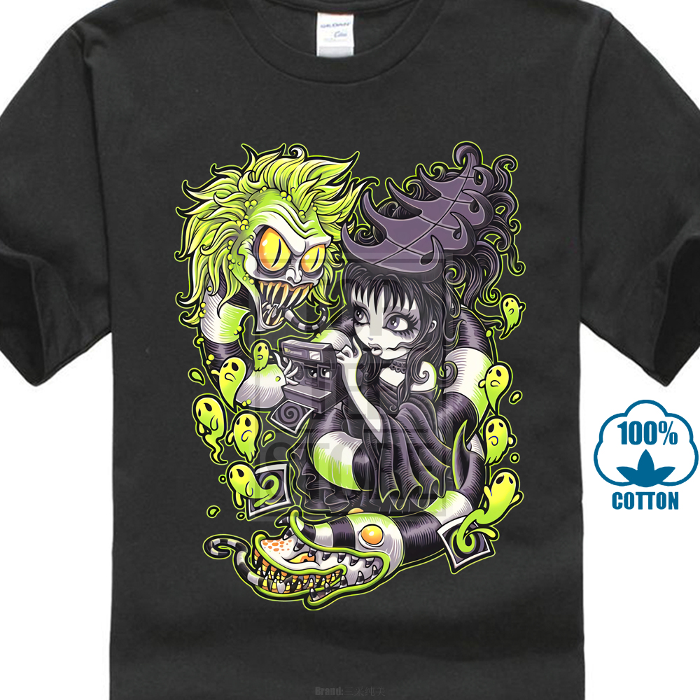 Beetlejuice Shirt Snake And Lydia Horror Gpth Premium Graphic T Shirt S 5Xl