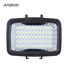 Andoer Ultra Bright 1800LM Photo Studio Video Light Lamp 3 Modes 5500K LED Diving Fill-in Light for GoPro Xiaomi Yi SJCAM Camera(China)