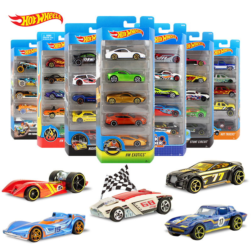 Genuine Hot Wheels Hot Little Sports Car 5cars Packaging  Mixed Loading 1/64 Alloy Track Model Car Kids Toy 1806