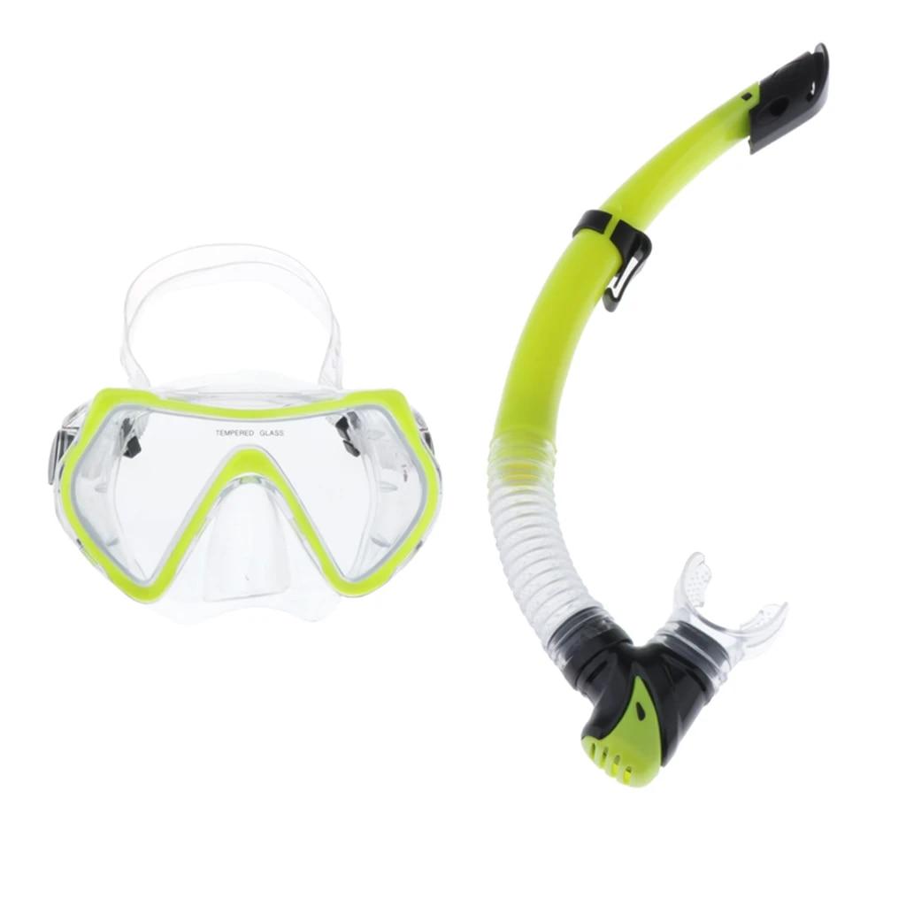 Kids Child PVC Glass Diving Scuba Anti-Fog Goggles Diving Snorkel  Mask-*
