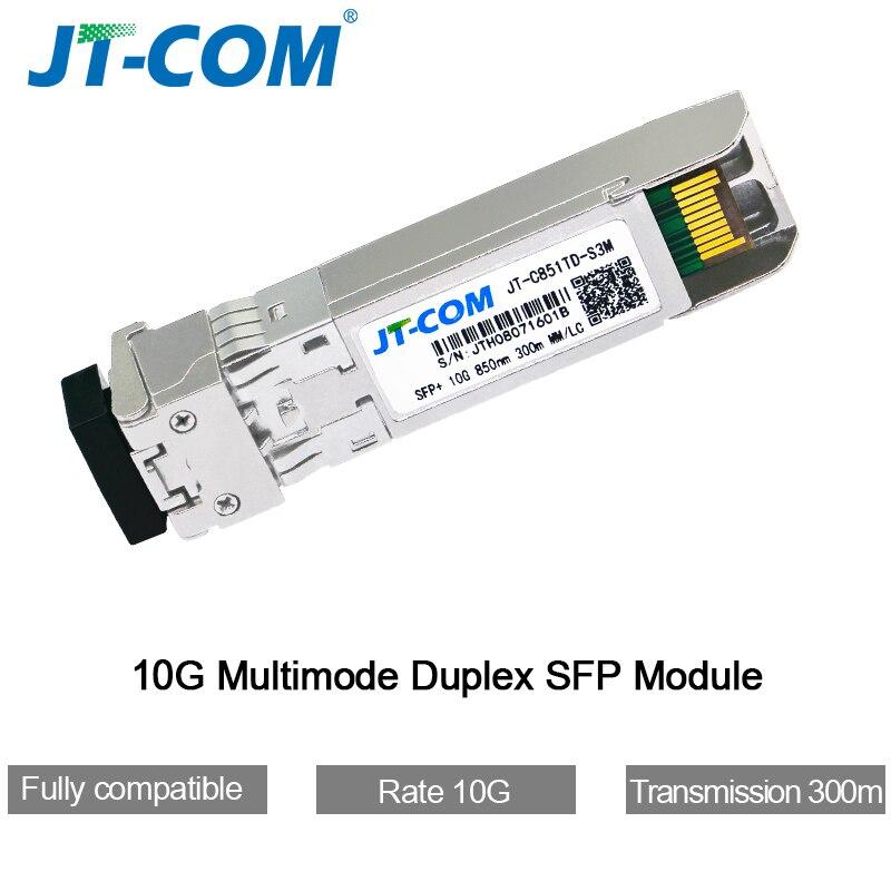 10G SFP + дуплексный модуль LC SFP Multi-Mode 850 нм 300 м SFP Оптоволоконный коммутатор SFP-10G-SR с коммутатором Cisco / Mikrotik / Huawei, полностью совместимым
