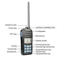 מכשיר הקשר RETEVIS RT55 מקצועי VHF Marine רדיו Float מכשיר הקשר Waterproof דו כיוונית רדיו VHF ימית 5W התראה רדיו NOAA מזג (5)