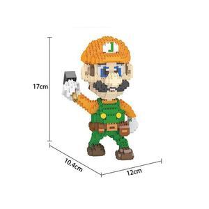 Image 5 - Bloques de construcción de figuras de super Mario bros para niños, juguete de piezas de bloques de Lepining, Wario, Yoshi, Waluigi, Luigi, mini micro diamante