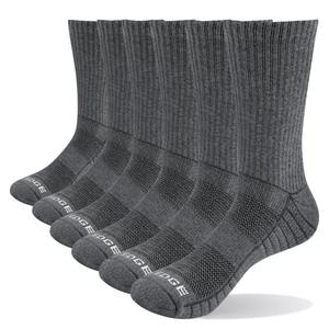 Image 1 - YUEDGE Mens 5 Pairs Spring and Autumn Cotton Cushion Comfortable Sports Casual Runing Hiking Crew Dress Socks