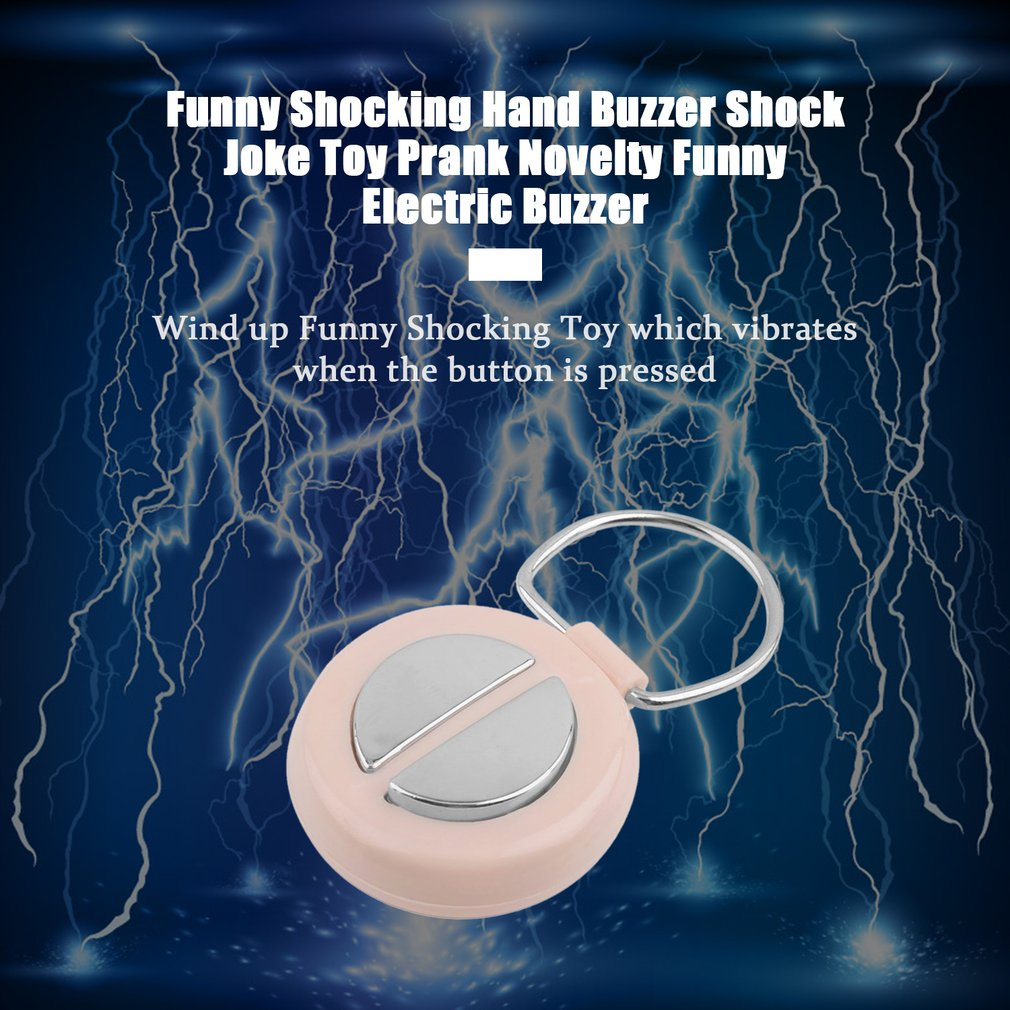 2019 Hot Original Funny Shocking Hand Buzzer Shock Joke Toy Prank Novelty Electric Buzzer Party Play Joke Trick Toy Random Color