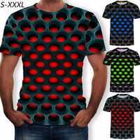 ZOGAA été T-shirt hommes géométrique 3D en trois dimensions motif impression numérique T-shirt mâle à manches courtes coupe ajustée hauts t-shirts