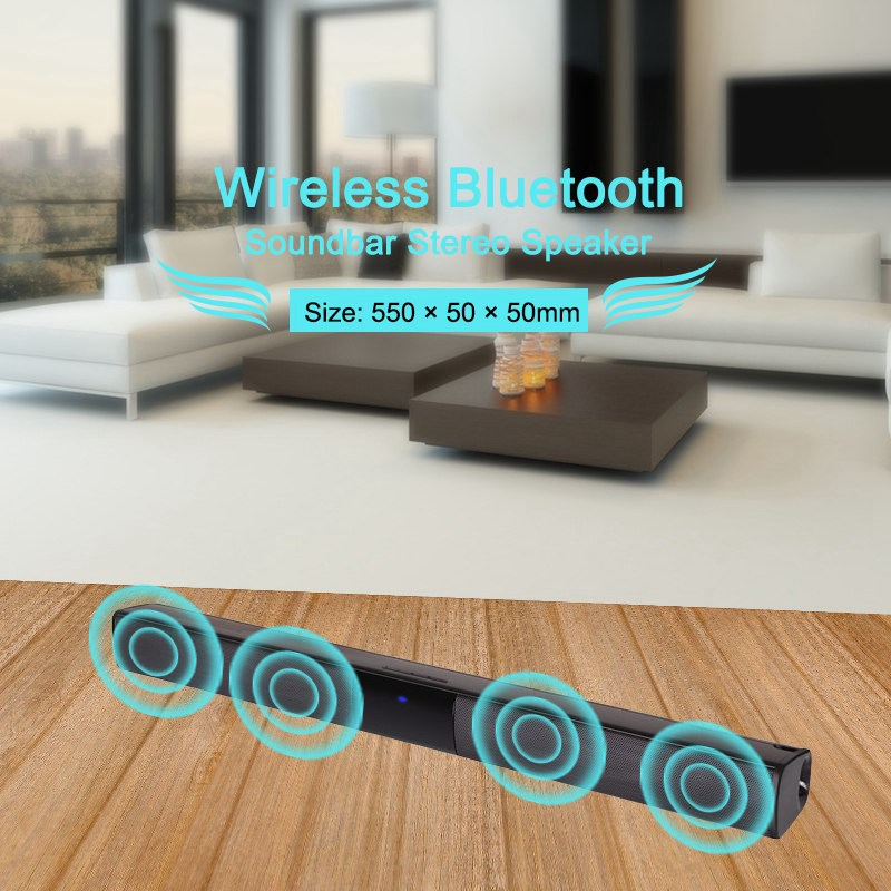 VTIN BS28B Wireless Bluetooth Soundbar Speaker TV Home Theater Soundbar Subwoofer with RCA 3D Stereo Surround Sound Speaker (4)