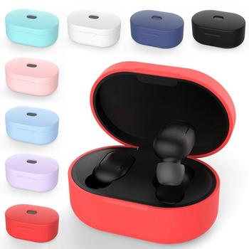 Silicone Earphone Case For Xiaomi MI Redmi AirDots Headphones Covers TWS Bluetooth Earphone Wireless Headsets Protective Shells image