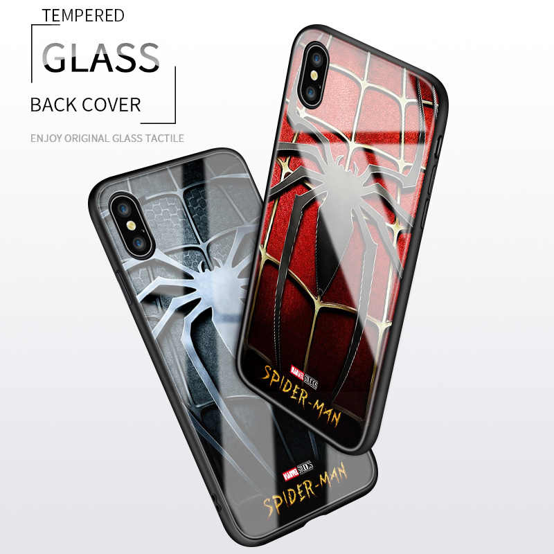 Untuk Samsung Galaxy J2 Prime G530 Grand Prime Marvel Spiderman Spider Logo Case Tahan Guncangan Lembut Kaca Tempered Cover Casing