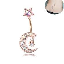Único estilo de venda pendurado umbigo umbigo botão anéis titanium umbigo piercing mulher corpo jóias piercing oreja pircing jóias