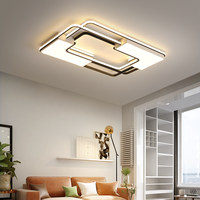 New listing Square Modern LED Ceiling Lights For Living Room Bedroom Study Home indoor Acrylic Black White Ceiling Lamp Fixture