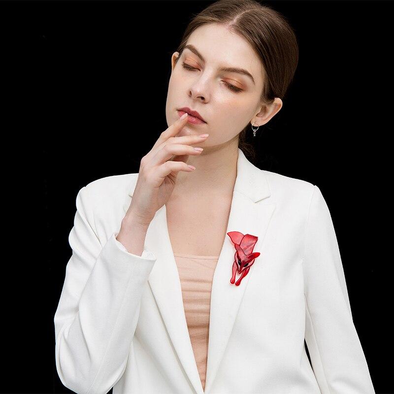 Funmor-Red-Acrylic-Fox-Women-Brooches-Backpack-Shirt-Decoration-Handmade-Acetate-Fiber-Animal-Pin-Environmental-Brooch (2)