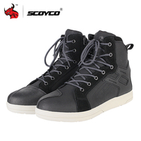 SCOYCO Motorcycle Boots Men Road Street Casual Shoes Microfiber Leather Moto Motocross Riding Boots Motorbike Shoes Size 39 46